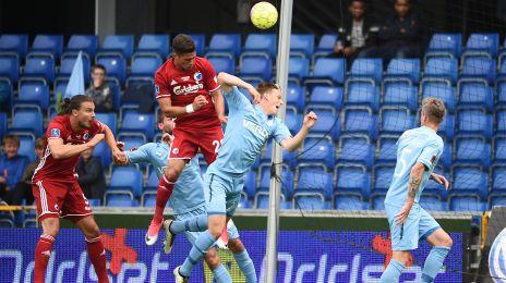 Pieros Sotiriou header 1-0-målet ind