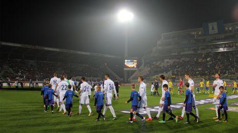 Indmarch på Andruv Stadion