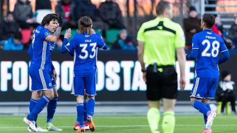 Jubel efter Santanders 2-1-mål