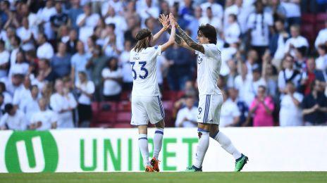 Jubel efter Santanders 1-0-mål