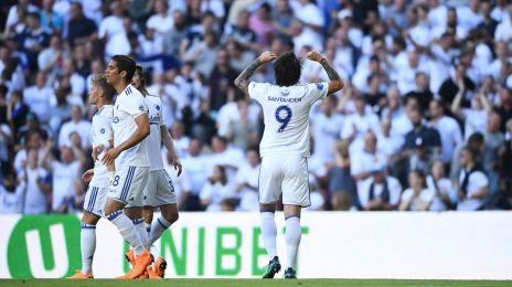Santander jubler efter sit mål til 1-0