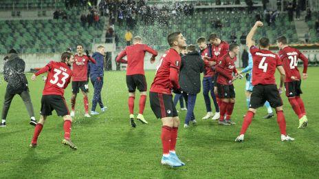 Spillerne jubler efter sejren