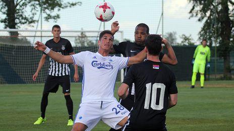 Pieros Sotiriou i aktion mod FK Partizan