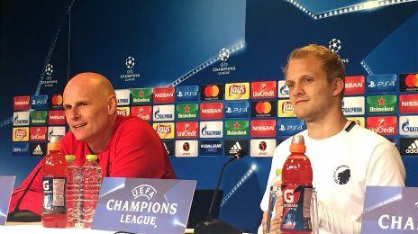 Ståle Solbakken og Nicolai Boilesen til pressemøde