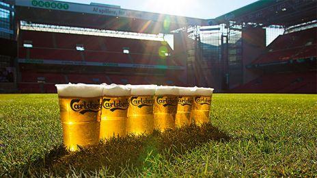 F.C. Copenhagen Carlsberg beer