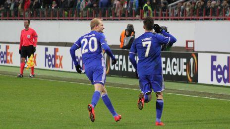 Boilesen og Verbic jubler efter 1-1-målet