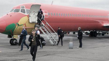 Ankomst til lufthavnen i Moskva