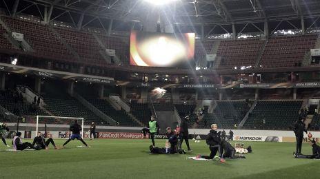 Opvarmning på stadion