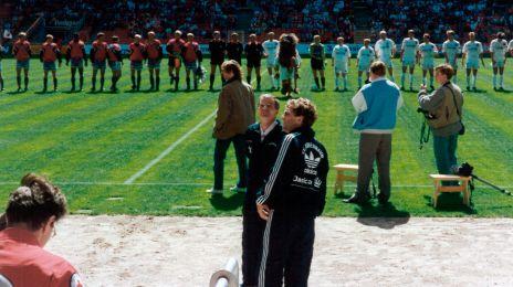 Benny Johansen og Keld Kristensen før den sidste hjemmekamp mod AaB