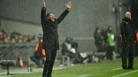 Diego Simeone på sidelinjen
