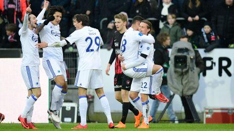 Jubel efter Pieros' 1-0-mål