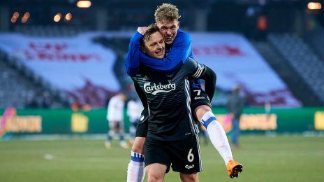 Kvist og Fischer jubler efter sejren i Aarhus