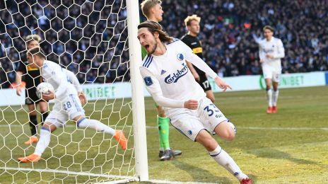 Rasmus Falk jubler efter 1-1-målet