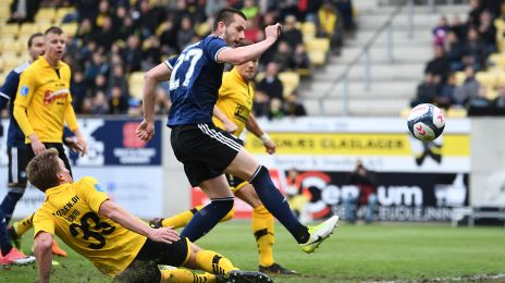 Michael Lüftner får et mål underkendt for offside