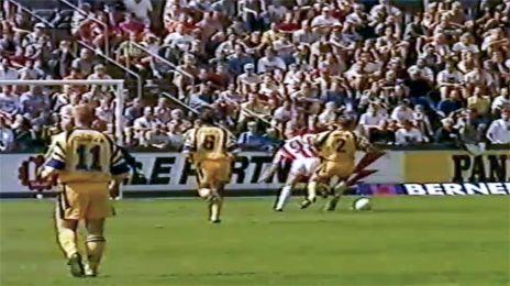 AaB-scoring i sæsonpremieren 94/95