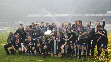 Mesterskabet fejres på Vejle Stadion