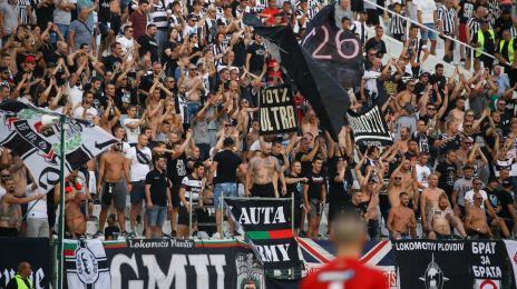 Lokomotiv-fans i Plovdiv