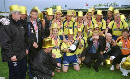 Mesterskabet er i hus - til lykke til Herfølge Boldklub.