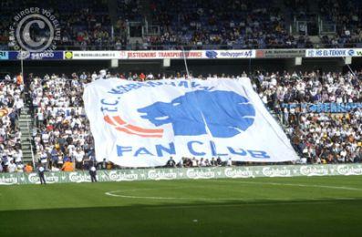 FCK fansene havde placeret sig på langsiden...