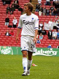 Jacob Neestrup kom også på banen i PARKEN. © FCK.DK