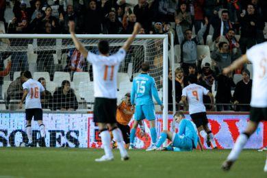 Glæde hos Valencia, det varede dog kun 24 minutter