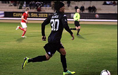 Christian Bolanos i fremdrift med bolden - han blev skiftet ud i det 74. minut og erstattet af Youssef Toutouh. Foto: FCK.dk