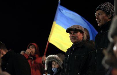 Medrejsende ukrainske supportere. Foto: FCK.dk