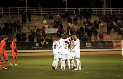 F.C. København har scoret til 1-0 ved Dame N'Doye. Foto: FCK.dk