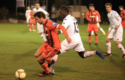 Pape Pate Diouf kom ind i 2. halvleg i stedet for Martin Vingaard på venstre midtbane. Foto: FCK.dk